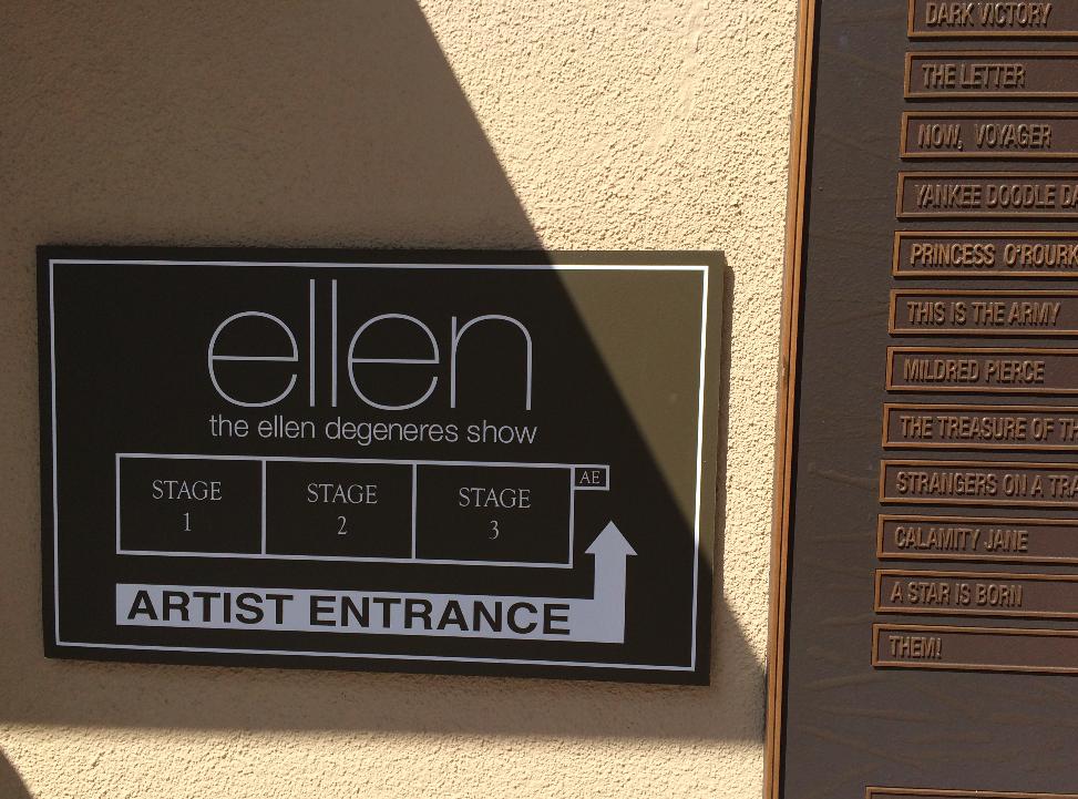 A entrada para o estúdio da Ellen, não podia tirar fotos lá dentro :(