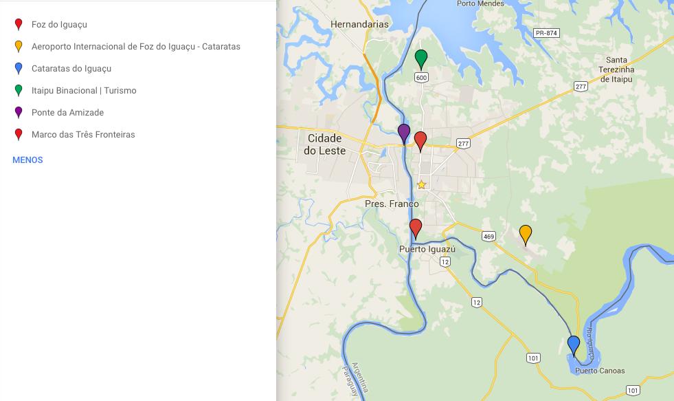 mapa foz do iguacu