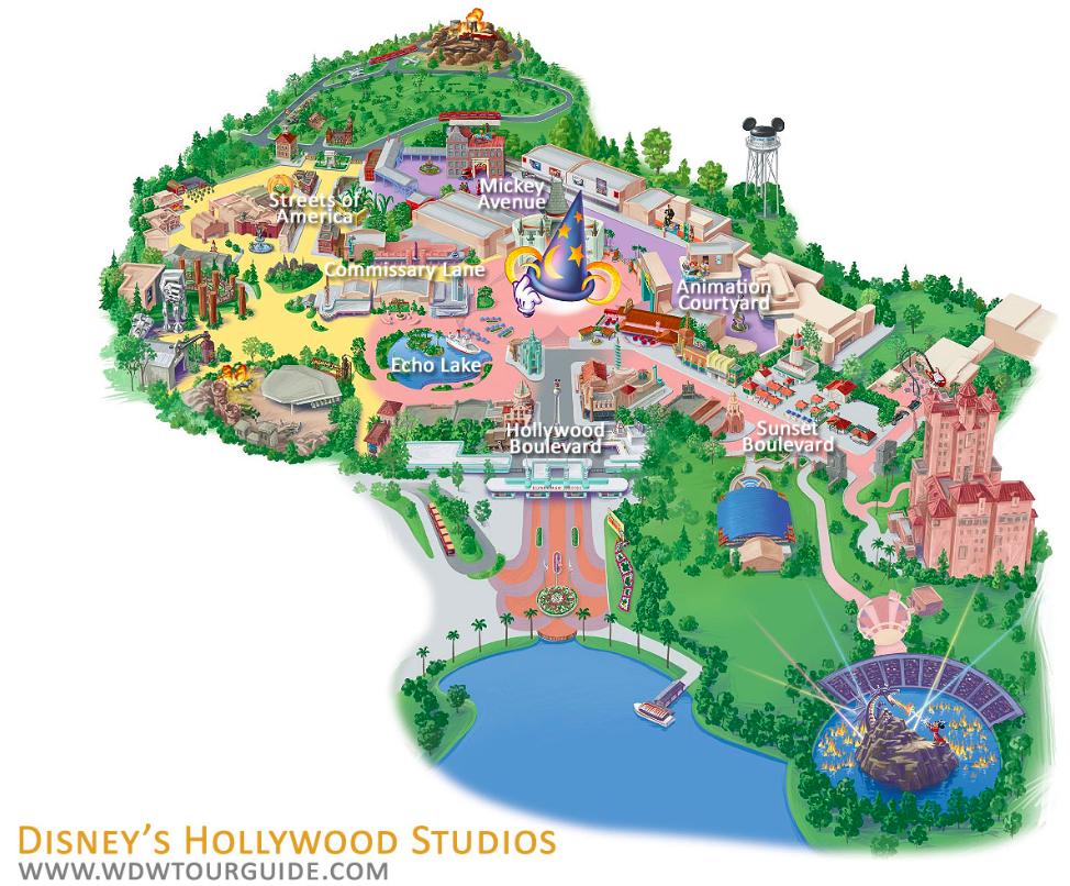 mapa hollywood studios disney