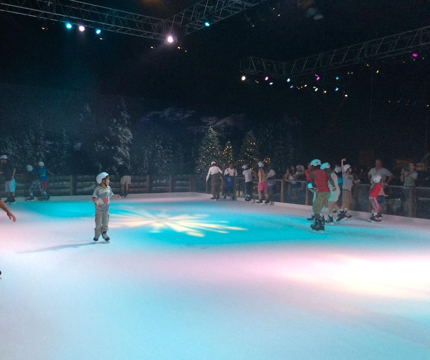 A pista de patinação do ano passado.