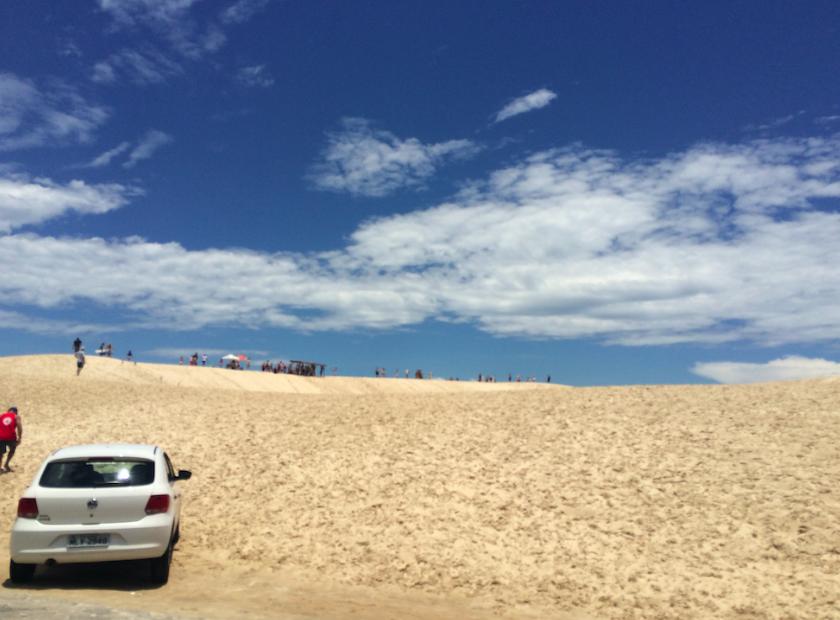 Dunas na praia da Joaquina