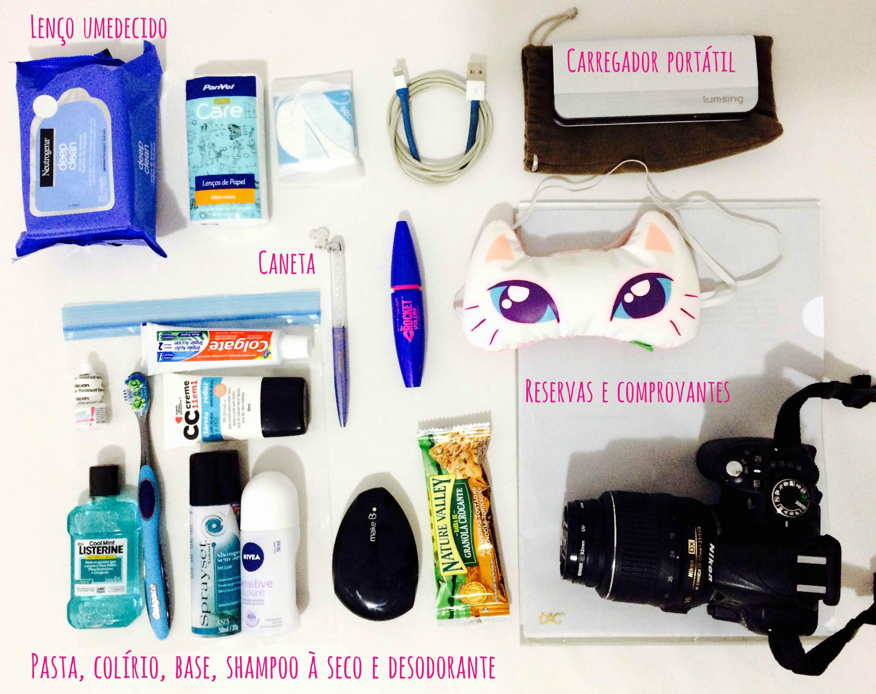 Checklist mochila