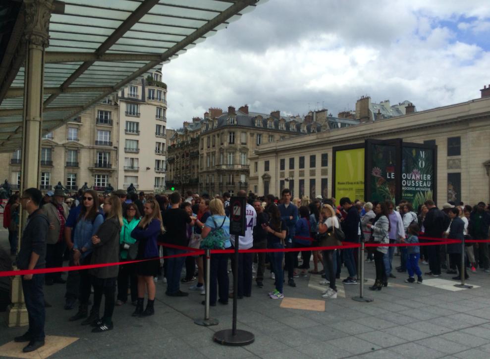 Quando vi essa fila no Museu D'Orsay já achei que o Museum Pass valeu a pena!