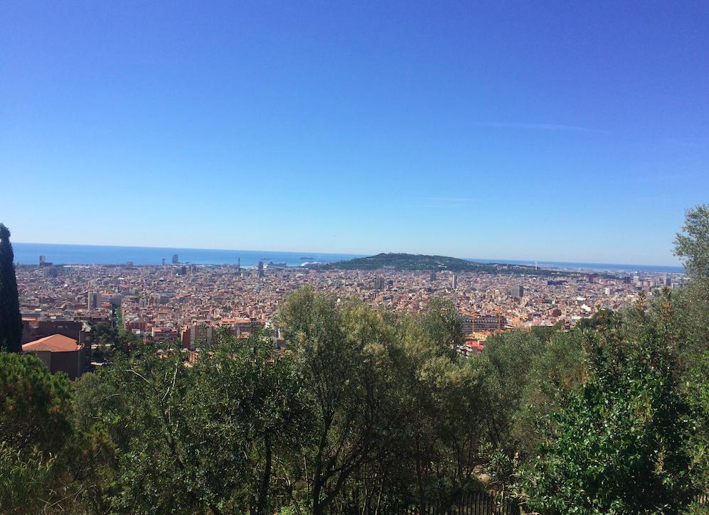 Vista da cidade do Park Guell