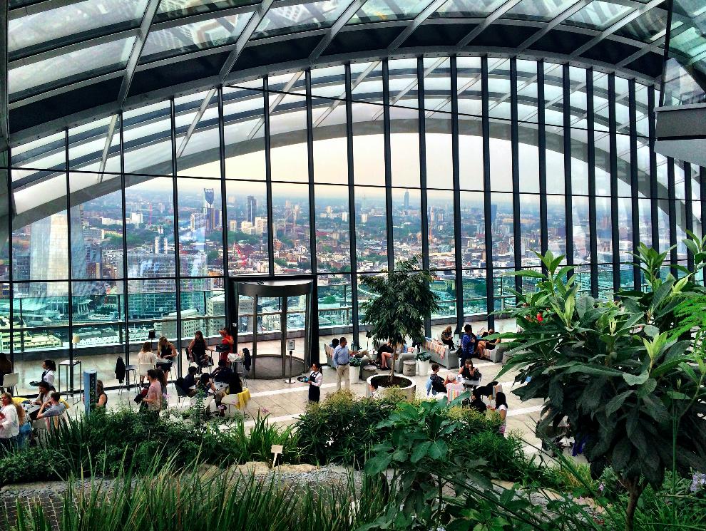 Sky Garden – Vista panorâmica gratuita de Londres