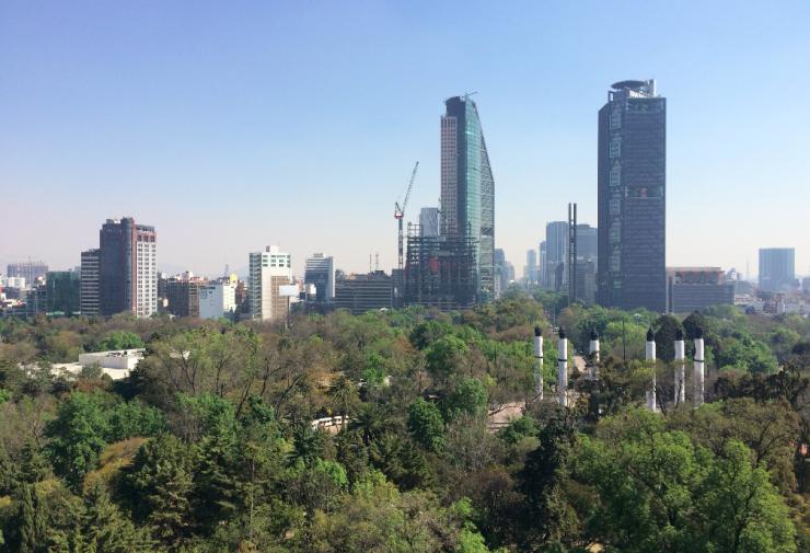 vista de chapultepec para cidade do mexico