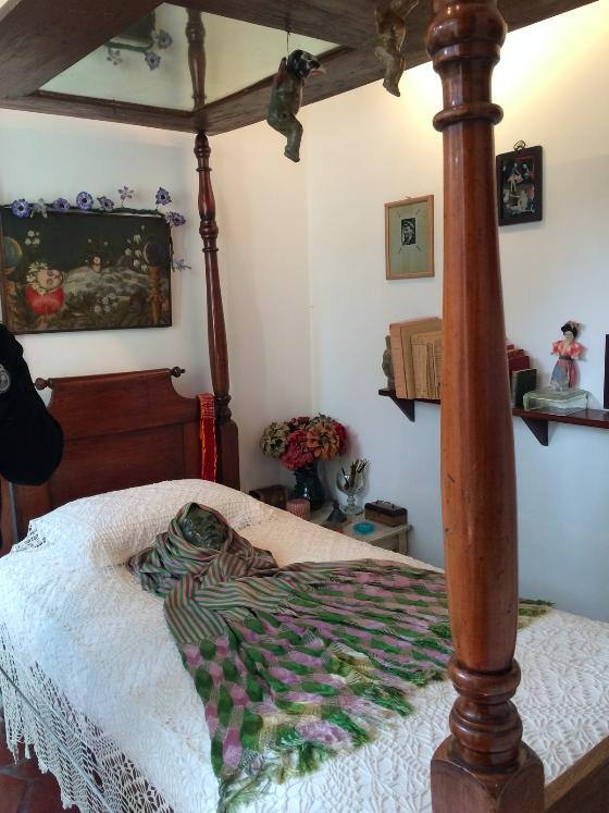 Essa era a cama onde ela passava o dia.