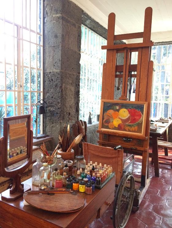 O estúdio onde ela pintava