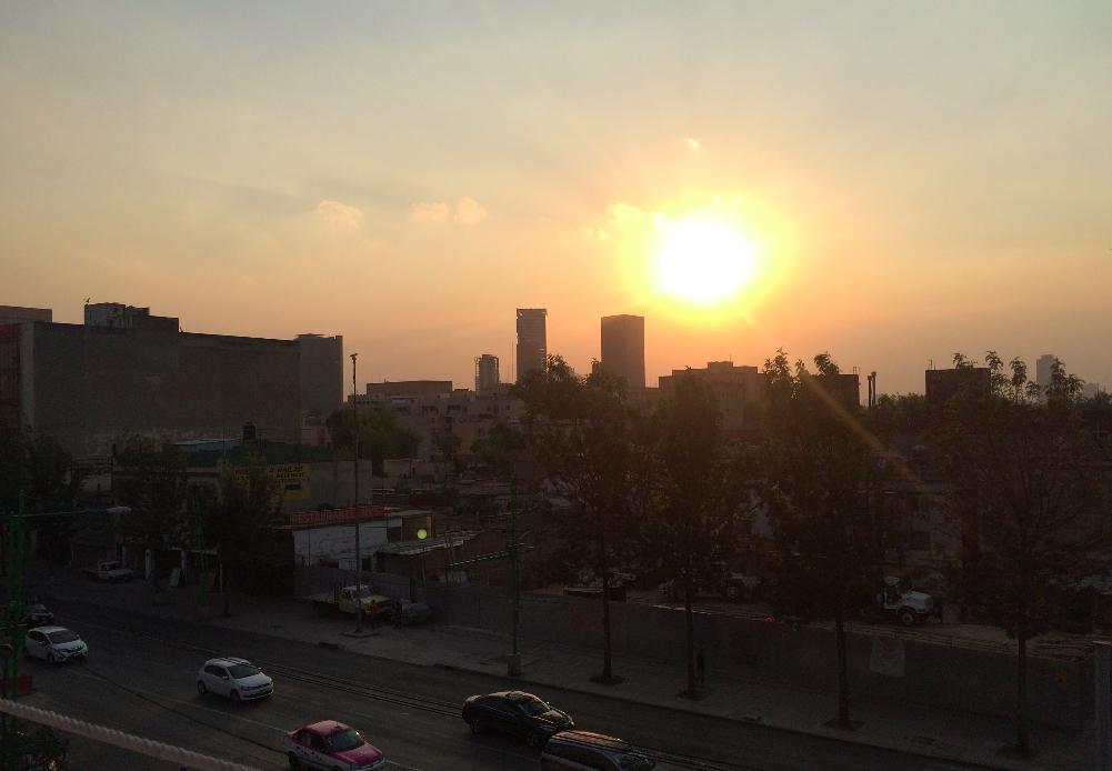 cidade do mexico sunset