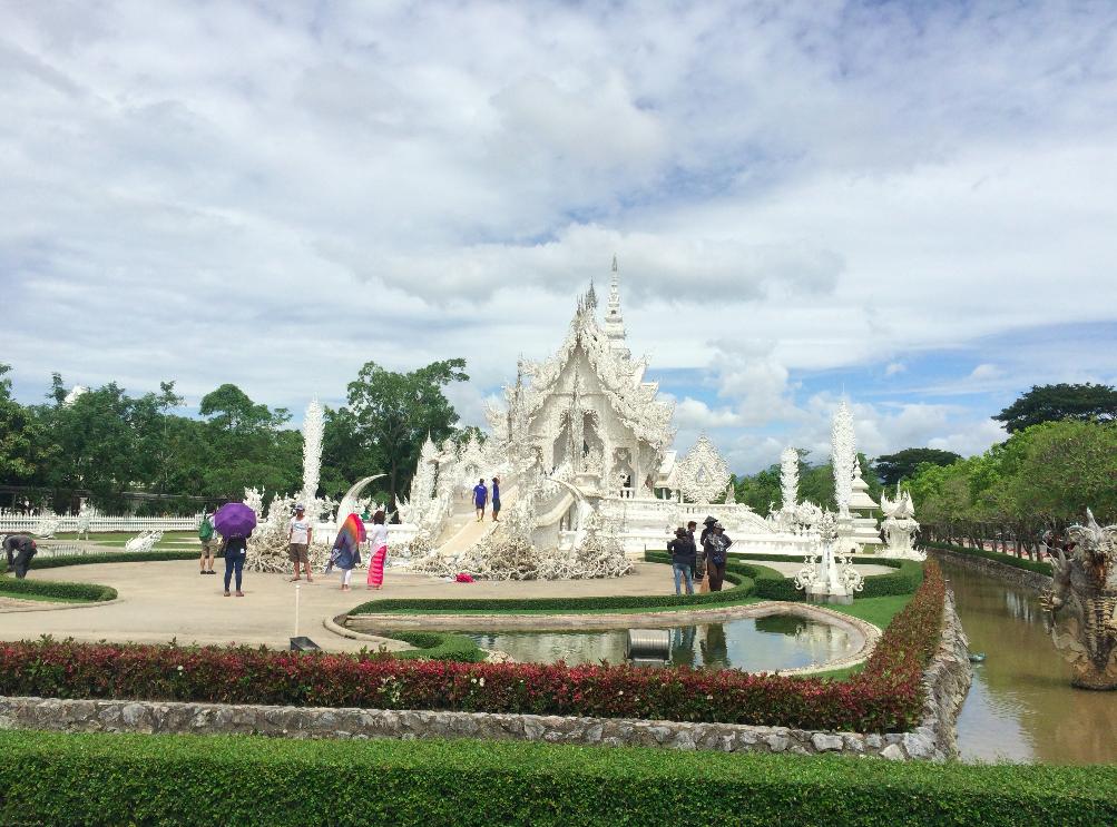 templo branco chiang rai tailandia