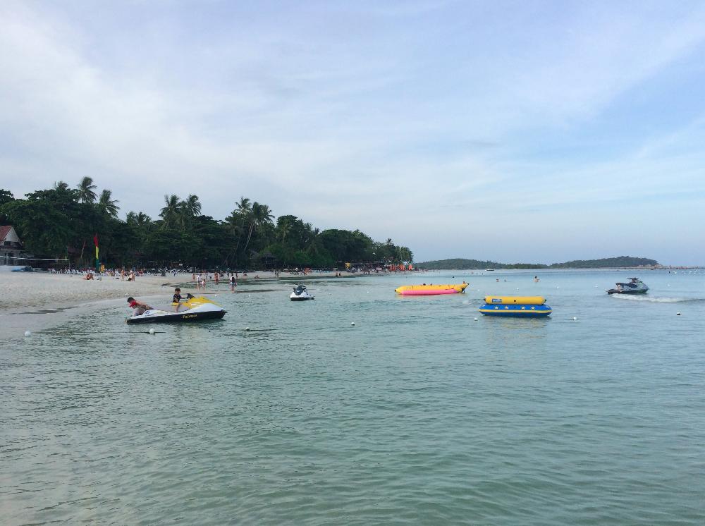 Essa era uma das partes mais movimentadas da praia, olha que tranquilidade