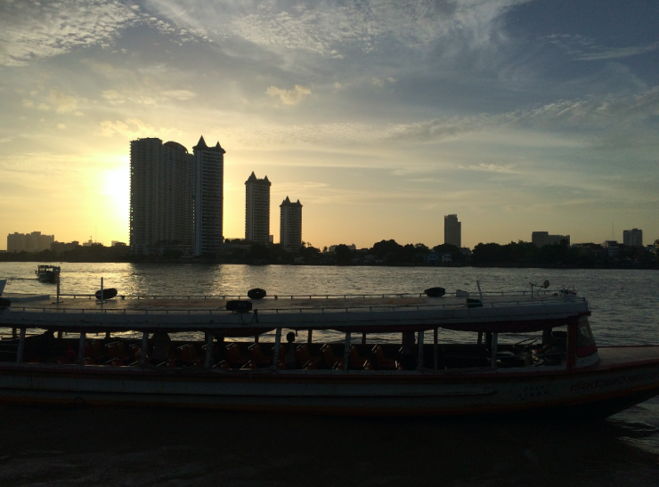 sunset bangkok