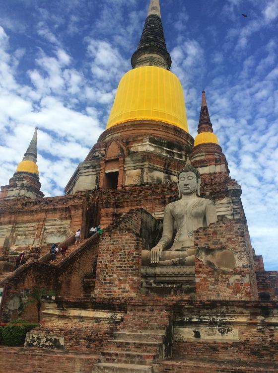 Wat Yai Chai Mongkol tailandia