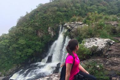 cachoeira trilha cambara