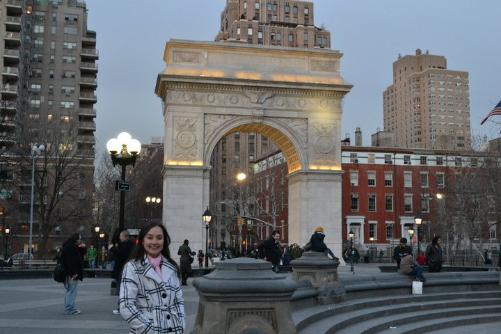 Washington Square Park no inverno