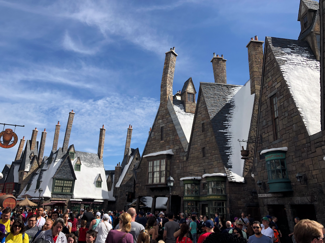 Telhados de Hogsmead, na parte do Harry Potter na Island of Adventures