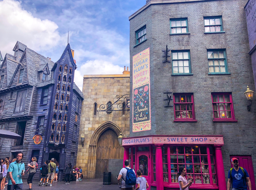 Lojas do Beco Diagonal, na parte do Harry Potter na Universal Studios